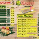 Machwi Casablanca Menu Restaurant