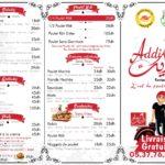 Addik Rabat Menu Restaurant 1