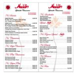 Aladdin Rabat Menu Restaurant 1
